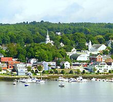 Typical New England Town by Patty Gross