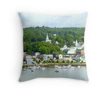 Typical New England Town Throw Pillow