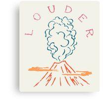 Explode Volcano Blast Canvas Print