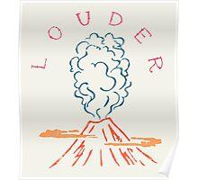 Explode Volcano Blast Poster