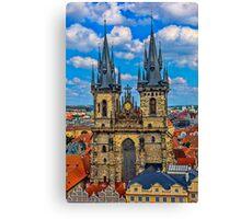 Tyn Church in Prague Canvas Print