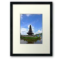 Ulundanu Temple, the floating temple at Bedugul, Bali Framed Print