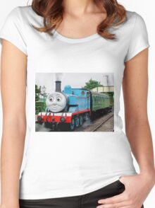 Thomas Waits For His Passengers ! Women's Fitted Scoop T-Shirt