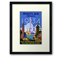 Chicago World's Fair 1934 Vintage Travel Poster Framed Print