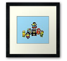 Justice League of Minions Framed Print