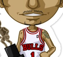 Derrick Rose Cartoon Sticker