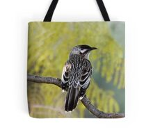 Young Adult Red Wattlebird Tote Bag