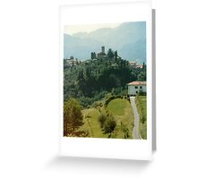 The House Below The Church. Greeting Card