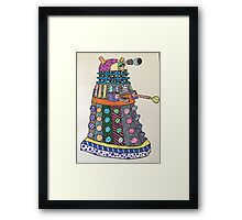 Dalek zentangle Framed Print