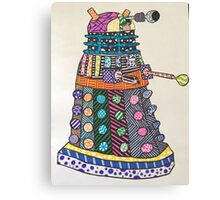 Dalek zentangle Canvas Print