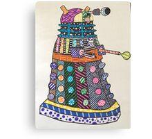 Dalek zentangle Canvas Print