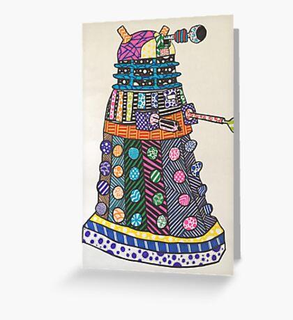 Dalek zentangle Greeting Card