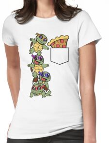 Pocket Pizza Womens Fitted T-Shirt