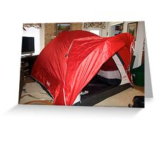 New tent Greeting Card