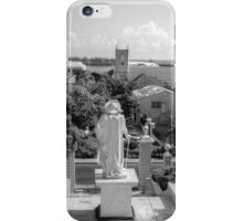 Christopher Columbus watching over Downtown Nassau - The Bahamas iPhone Case/Skin
