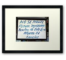 Costa Rica, Smoking Marijuana Framed Print