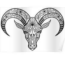 Calavera Goat II Poster