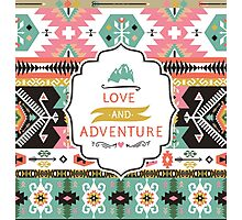 Decorative bright pattern in aztec style Photographic Print