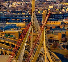 Leonard P. Zakim Bunker Hill Memorial Bridge by LudaNayvelt