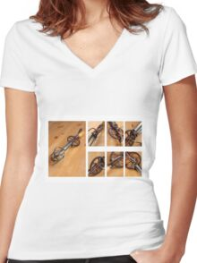 Old Cream Beater  Women's Fitted V-Neck T-Shirt