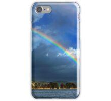 Double rainbow at Kaiafas lake iPhone Case/Skin