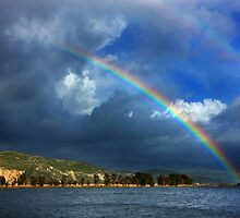 Double rainbow at Kaiafas lake by Hercules Milas