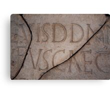 Roman Coliseum Typography Canvas Print