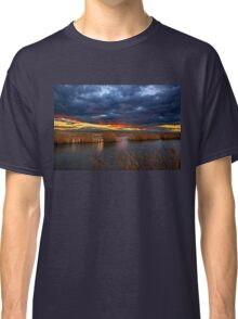 Sunset at the marshlands of Aliakmonas river Classic T-Shirt