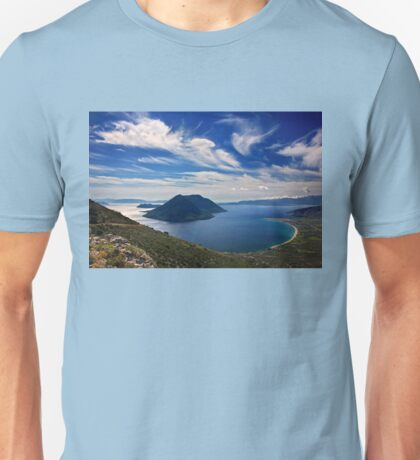 Ionian panorama from Xiromero Unisex T-Shirt