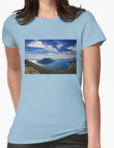 Ionian panorama from Xiromero Womens Fitted T-Shirt