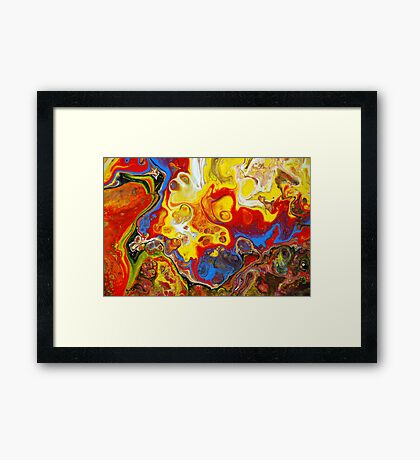 Acrylic Chemical Reaction Abstract Painting Framed Print