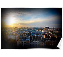 Gleaming Parisian Sunset Poster