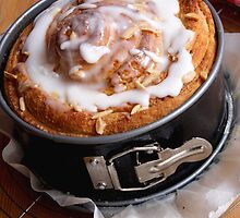 Sweet Cinnamon Cake With Almonds by SmoothBreeze7