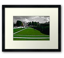 Lawns at the Louvre Framed Print