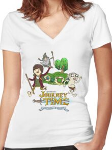 Unexpected Journey Time! Women's Fitted V-Neck T-Shirt