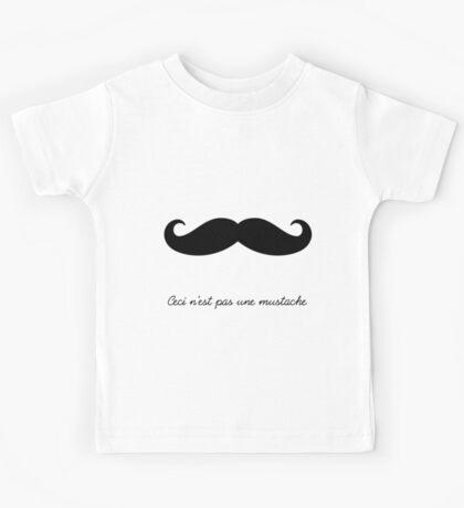 Ceci n'est pas une mustache Kids Tee