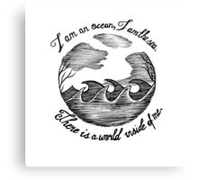 I am an ocean (lyrics) Canvas Print
