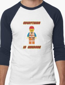 Emmet Brickowski / Everything is Awesome Men's Baseball ¾ T-Shirt
