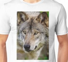 Timberwolf Portrait  Unisex T-Shirt