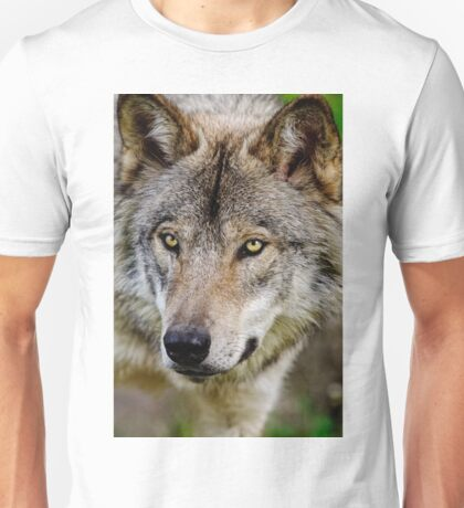 Timberwolf Portrait  Unisex T-Shirt