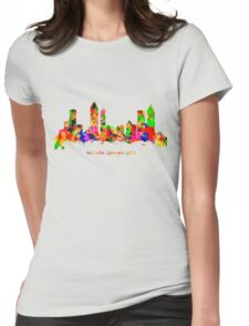 Watercolour art print of the skyline of Atlanta Georgia USA Womens Fitted T-Shirt