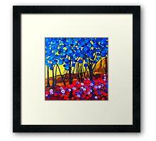 Marbled Forest Framed Print