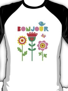Bonjour - on lights T-Shirt