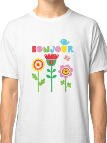 Bonjour - on lights Classic T-Shirt
