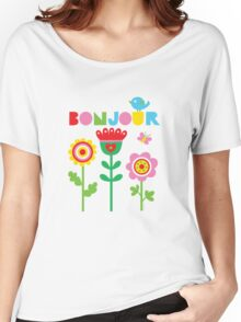 Bonjour - on lights Women's Relaxed Fit T-Shirt