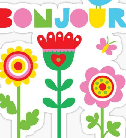 Bonjour - on lights Sticker