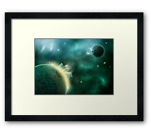 Cosmic Rebirth Framed Print
