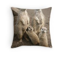 Happy families Throw Pillow
