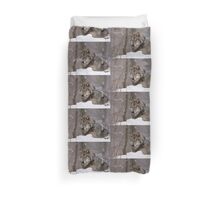Timberwolf in Winter Duvet Cover