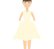 Cute pretty bride in a wedding dress. The style of Audrey Hepburn. Style icon. Fleta icon bride. by HelgaScand